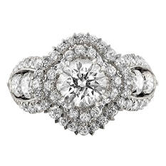 Christopher Designs 2.35 CT. TW. Round Diamond Clover Ring in 14K White Gold (I, I1)