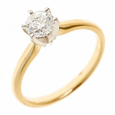 1.45 CT. Round-Cut Diamond Solitaire Ring in 18K Yellow Gold (H, VS2)