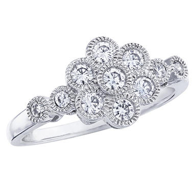 0.50 ct. t.w. Diamond Flower Ring in 14k White Gold (I, I1)