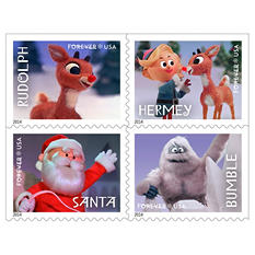 USPS Holiday Ruldolph Forever Stamps, 2 Books of 20