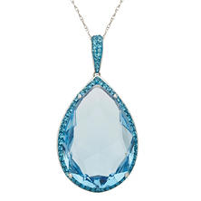 Pear-Shaped Blue Crystal Pendant