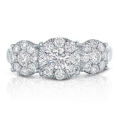 1.46 CT. TW. Unity Diamond Engagement Ring in 14K White Gold (I, I1)