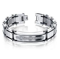 Click here for Mens Diamond Bracelet in Stainless Steel prices