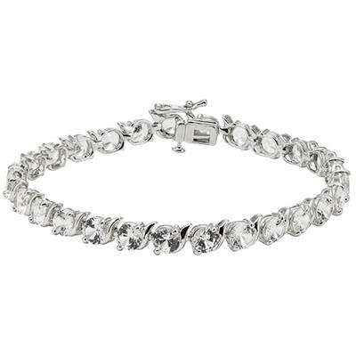 Sterling Silver Lab-Created White Sapphire Bracelet