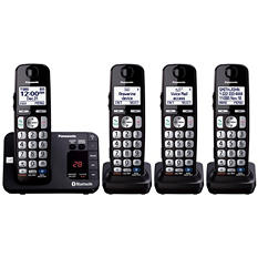 Panasonic 4 Handset Link to Cell Cordless Phone w/ Text Message Alert