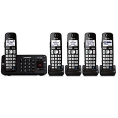 Panasonic 5 Handset  Link to Cell Cordless Phone w/ Text Message Alert