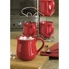 Fireside Mugs 4-Piece Set with Cradle
