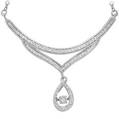 0.33 ct. t.w. Dancing Diamond Necklace in 14K White Gold (IGI Appraisal Value: $665.00)
