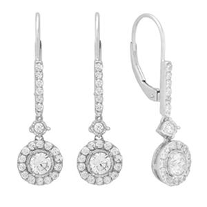 1.00 ct. t.w. Dangle Diamond Earrings in 14K White Gold (IGI Appraisal Value: $1,310.00)