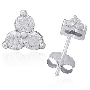 0.50 ct. t.w.  Diamond Stud Earrings in 14K White Gold (IGI Appraisal Value: $765.00)