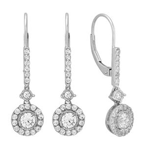 0.50 ct. t.w. Dangle Diamond Earrings in 14K White Gold (IGI Appraisal Value: $755.00)