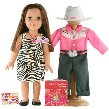 "Dallas 18"" Doll - Cowgirl, Inspired by Horses"