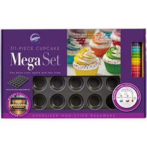 Wilton 311-Piece Mega Pan Cupcake Set