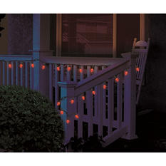 100 Count Orange LED C4 Halloween Lights