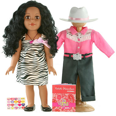 "Dallas African American 18"" Doll - Cowgirl, Inspired by Horses"