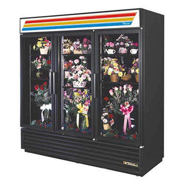 Refrigerated Floral Case w/ 3 Swinging Doors