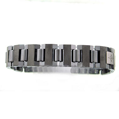 Heavy Tungsten Satin High Polish Gent's Bracelet