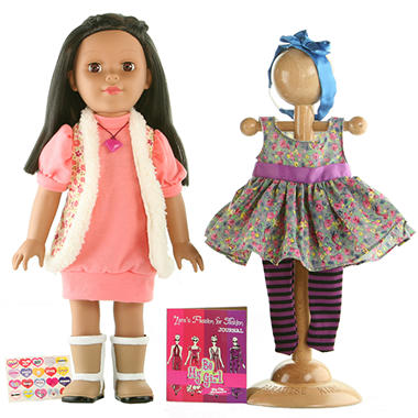 "Los Angeles Hispanic 18"" Doll - Fashion Designer"