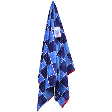 "Beach Towel - 40"" x 72"" - Blue Blocks"