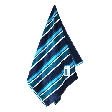 "Beach Towel - 40"" x 72"" - Blue Stripe"