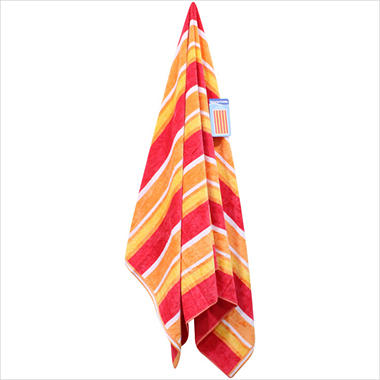 "Beach Towel - 40"" x 72"" - Banana Stripe"