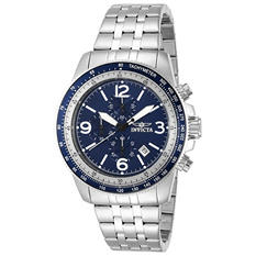 Invicta Men's Sport Chrono Watch with Black or Blue Dial