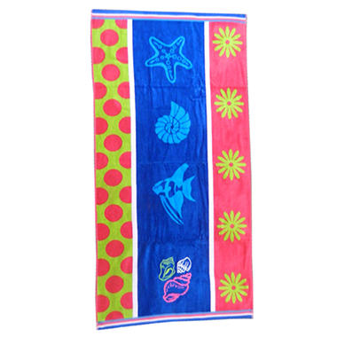 Kids Beach Towel - Sea Heart - 30
