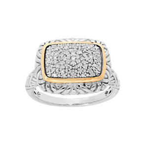 0.19 ct. t.w. Diamond Ring in Sterling Silver and 14K Yellow Gold (H-I, S12)