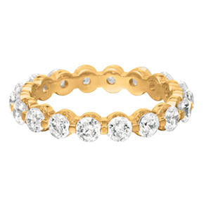 14K Yellow Gold Prong-Set Diamond Eternity Band (I, I1) - 3.5mm