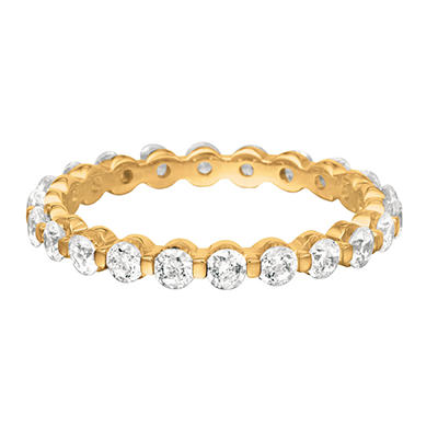 Prong Set Diamond Eternity Band in 14K Yellow Gold - 3mm (I, SI2)