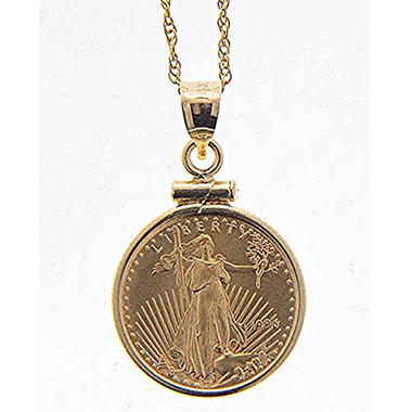1/10 oz. 14K Gold American Eagle Pendant