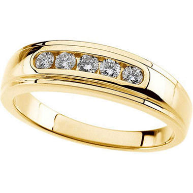 0.33 ct. t.w. Gents Diamond Band  (I, I1)