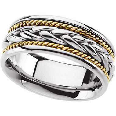 Ladies Two-Tone Wedding Band