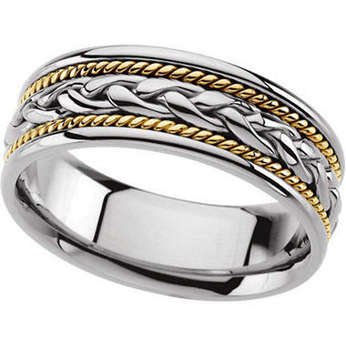 Gents Two-Tone Wedding Band