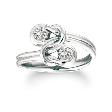 .75 ct. t.w. Everlon? Diamond Twin Knot Ring in 14K White Gold (I, I1)