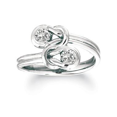 .75 ct. t.w. Everlon™ Diamond Twin Knot Ring in 14K White Gold (I, I1)