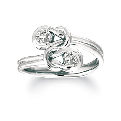 .75 ct. t.w. Everlon™ Diamond Twin Knot Ring in 14K White Gold (I, I1)