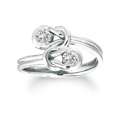 .30 ct. t.w. Everlon™ Twin-Knot Diamond Ring in 14K White Gold (I, I1)