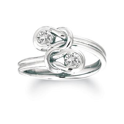 .30 ct. t.w. Everlon™ Twin-Knot Diamond Ring in 14K White Gold (I, I1)