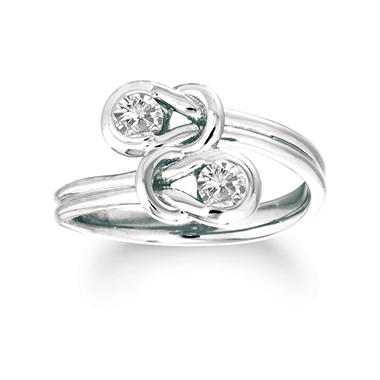 1.00 ct. t.w. Everlon? Diamond Twin Knot Ring in White Gold (I, I1)
