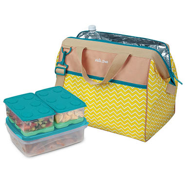 Insulated Carrier With 8 Piece Interlockers Food Container