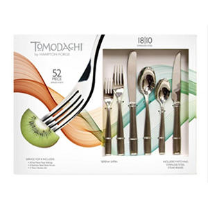Tomodachi 52-Piece Flatware Set - Assorted Options