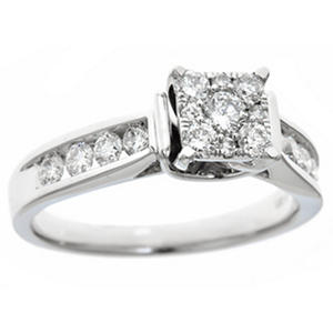 0.75 CT.TW. Diamond Composite Bridal Ring in 14K White Gold (IGI Appraisal Value: $1,200)