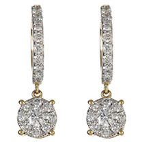 Click here for 1.00 CT. TW. Round Diamond Composite Drop Earring... prices