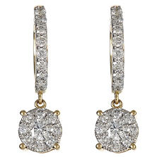 1.00 CT.TW. Round Diamond Composite Drop Earring in 14K Yellow Gold