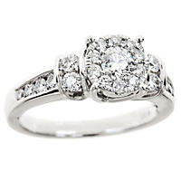 1.00 CT. T.W. Diamond Composite Engagement Ring in 14K White Gold (HI-I1)
