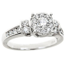 1.00 CT.TW. Diamond Composite Bridal Ring in 14K White Gold (IGI Appraisal Value: $1,875)