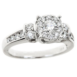 1.00 ct. t.w. Diamond Composite Bridal Ring in 14K White Gold (HI-I1)