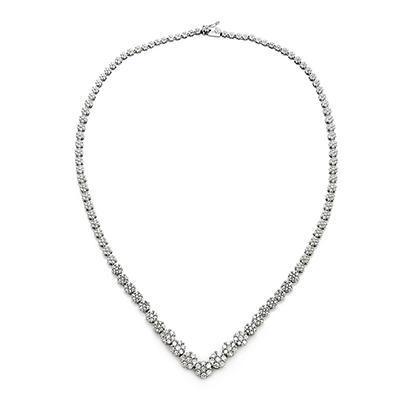 3.00 CT.TW. Round Diamond Fashion Necklace in 14K White Gold (IGI Appraisal Value: $3,855)