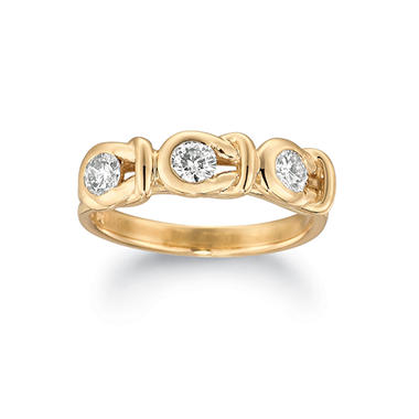 .75 ct. t.w. Everlon™ Three-Stone Diamond Ring in Yellow Gold (I, I1)